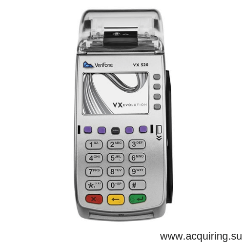 POS-терминал Verifone VX520 Ethernet - локальная сеть, GPRS - СИМ-карта с базовым программным обеспечением в Ростове-на-Дону